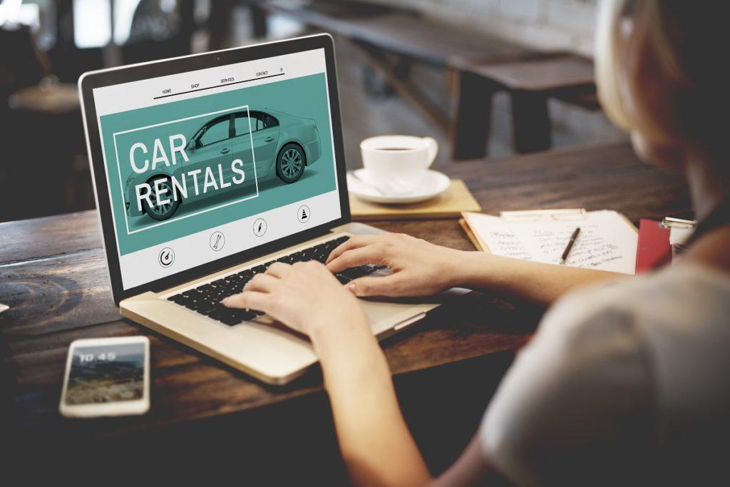 customer browsing to a car rental website