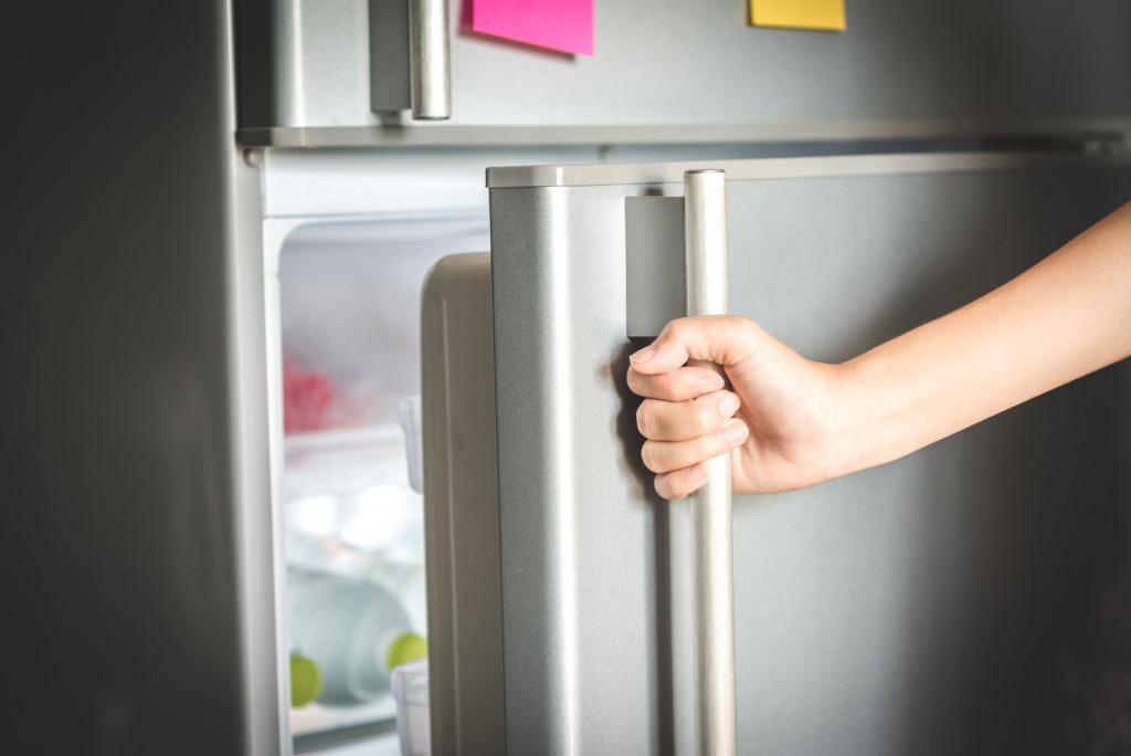 Refrigerator being opened